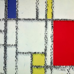 Jump The Line by Craig Alan - Mixed Media sized 36x36 inches. Available from Whitewall Galleries